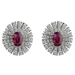 Damiani---SUFI-earrings-with-central-rubies,-brilliant-cut-diamonds-81049077