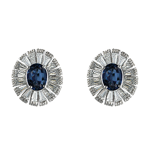 Damiani---SUFI-earrings-with-central-sapphires,-brilliant-and-baguette-cut-diamonds-81049080