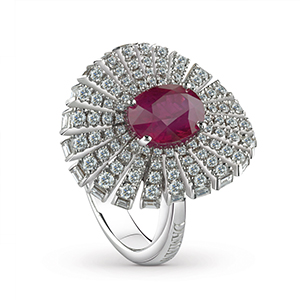 Damiani---SUFI-ring-with-a-central-ruby,-brilliant-cut-diamonds-81049076