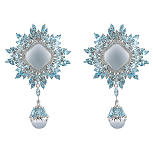 Damiani---VIVALDI-earrings-with-chalcedony,-topazes-and-diamonds
