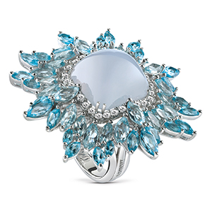 Damiani---VIVALDI-ring-with-chalcedony,-topazes-and-diamonds-20058598