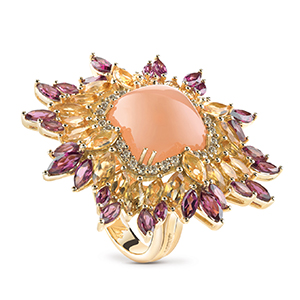 Damiani---VIVALDI-ring-with-orange-adularia,-quartzs-and-diamonds-20058600